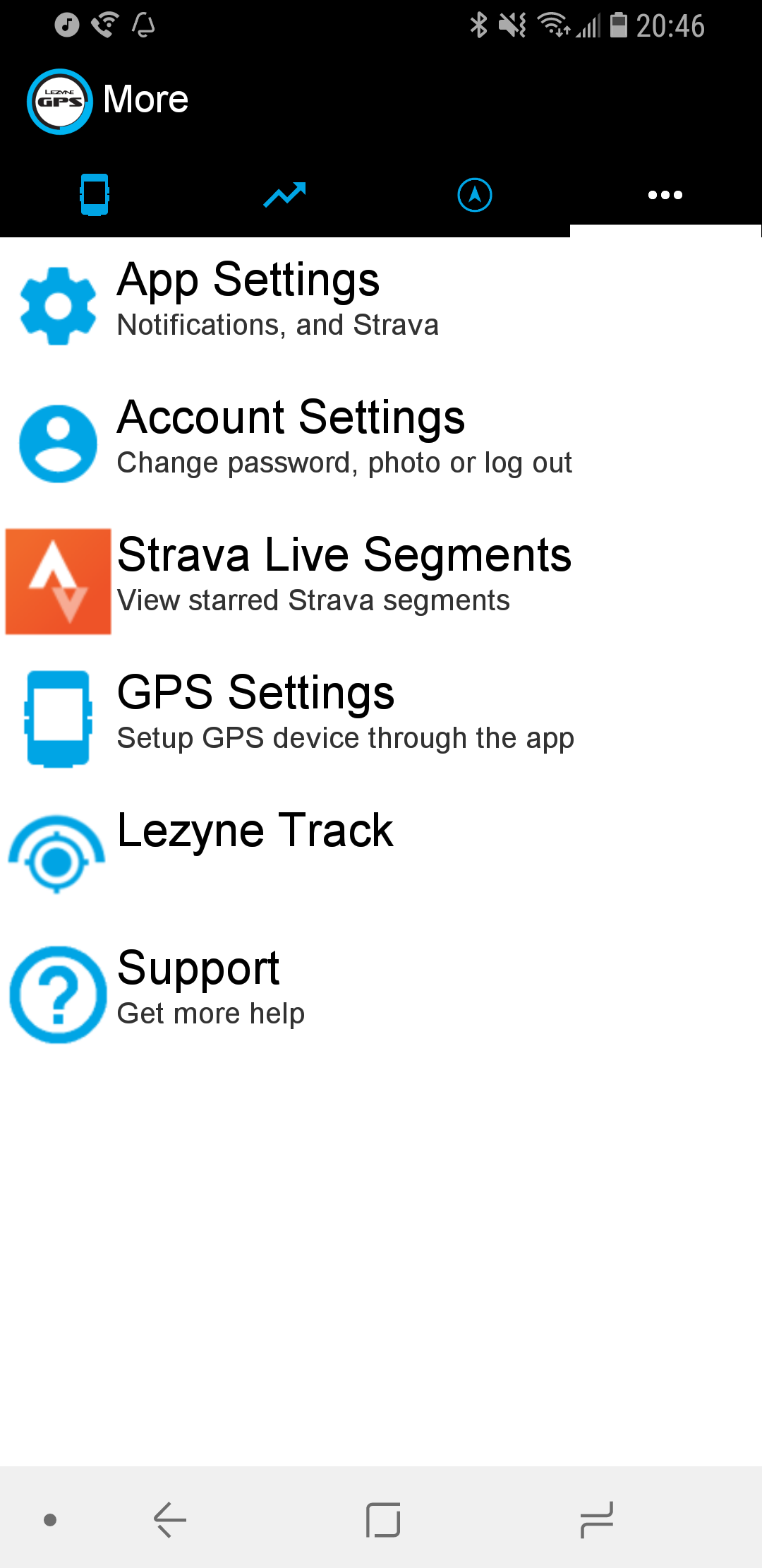 Phone app settings